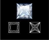 Pricess diamond cut