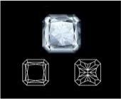 Square radiant diamond cut