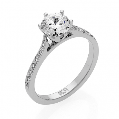 Elizabeth Engagement Ring and Matching Diamond Wedding Band