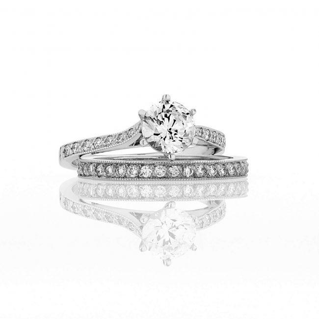 Elizabeth Engagement Ring and Matching Diamond Wedding Band